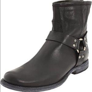 Frye black leather booties Sz 6.5